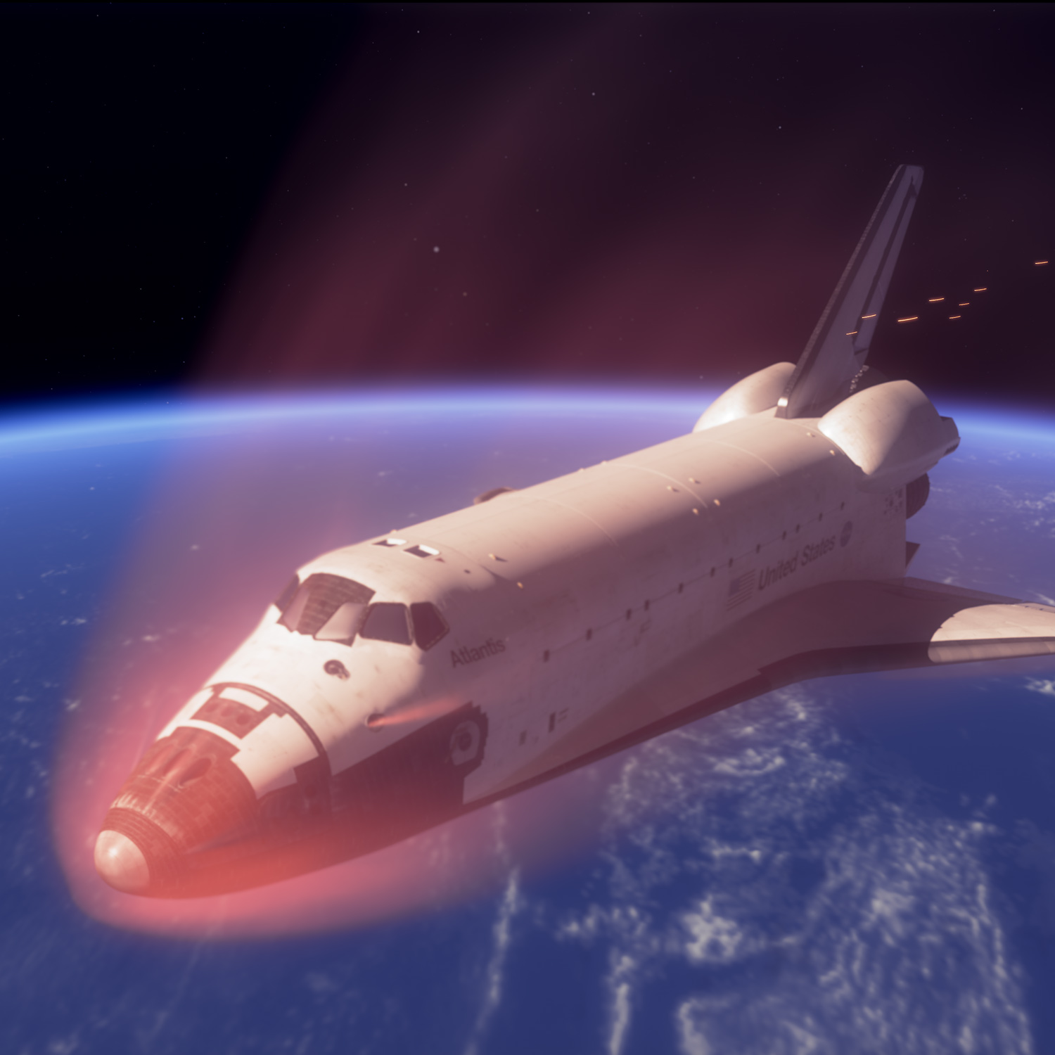 Aeroheating by reentry of Space Shuttle