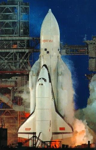 Energia launch with the shuttle vehicle Buran