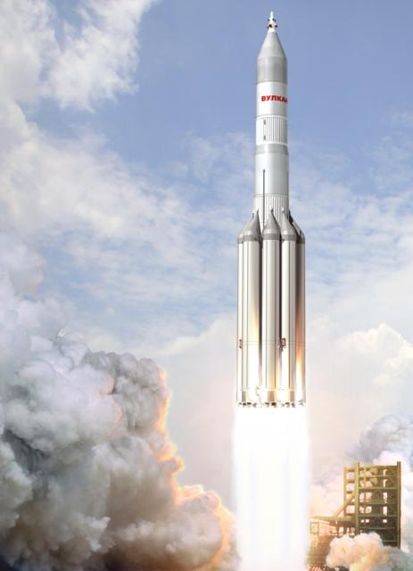 An artistic reconstruction of Vulcan launch.